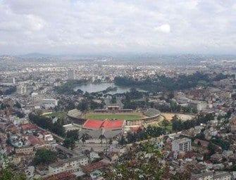 Madagascar Antananarivo panoramique, au cœur de la capitale d'Antananarive